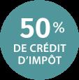 Vitalis 50% de crédit d'impôt